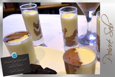 cuisine attitude lignac mousse au chocolat noir et blanc de cyril lignac poivré seb