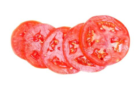 sliced tomato sliced fresh red tomatoes isolated on white background stock photo colourbox