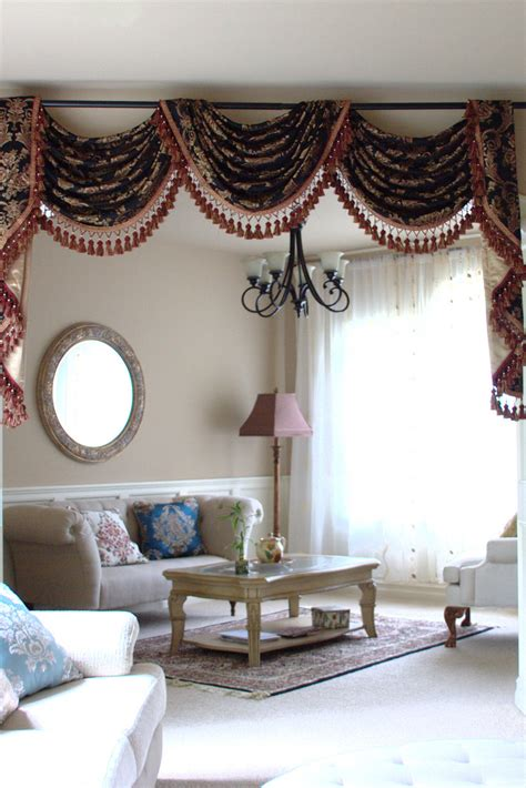 Swag Valances Window Treatments by Royal Black Pole Swag Valances Curtain Draperies