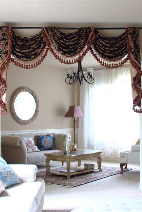 Valance Drapes Curtains by Royal Black Pole Swag Valances Curtain Draperies