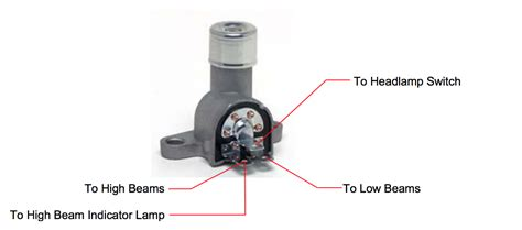 Gm High Beam Headlight Wiring by 11125 Installation For Gm Style Dimmer Switch