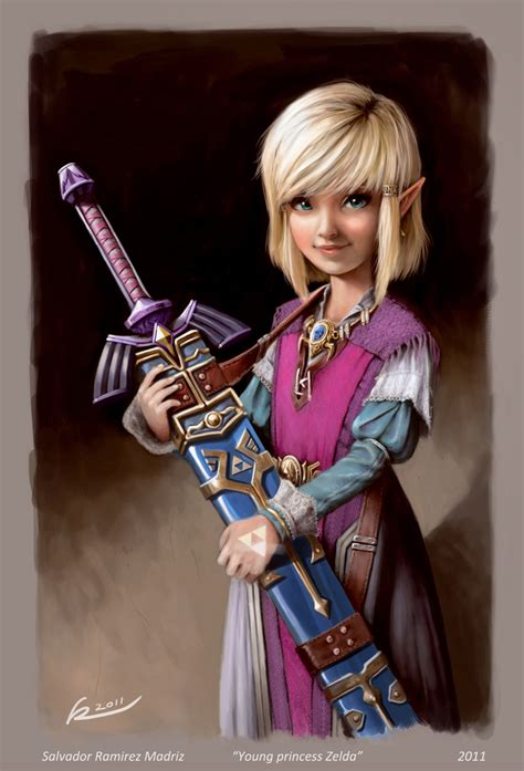 Young Princess Zelda By Reevolver On Deviantart