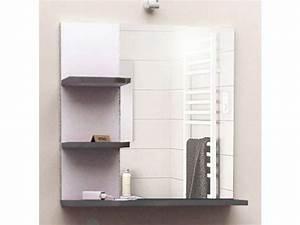 Conforama Salle De Bain : miroir de salle de bain soramena coloris gris vente de ~ Nature-et-papiers.com Idées de Décoration