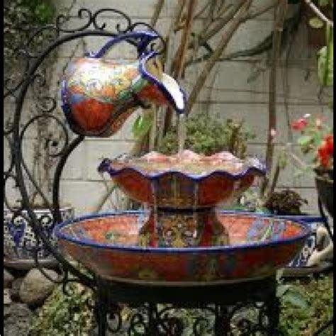 mexican fountains fountain mexican pottery so beautiful mexican pinterest pottery mexicans and talavera