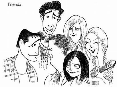 Al Hirschfeld Friends Caricatures Caricature Cast Tv
