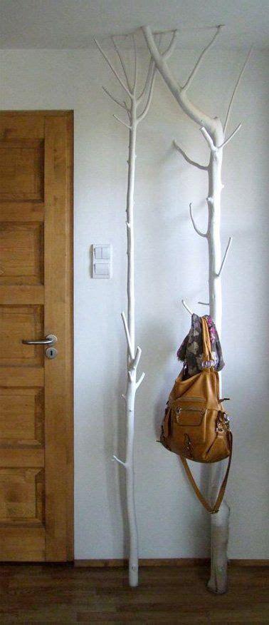 porte manteau arbre  fabriquer pour la deco du hall
