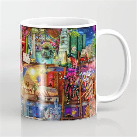 Menu & reservations make reservations. World Travel Book Shelf Coffee Mug by foxfires   Society6