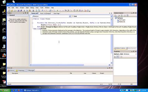 Basic was developed in 1963 at dartmouth college in hanover, new hampshire as a teaching language. Visual Basic: User Input Name - YouTube