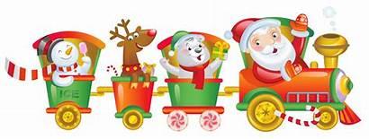 Train Santa Christmas Clipart Holiday Claus Transparent