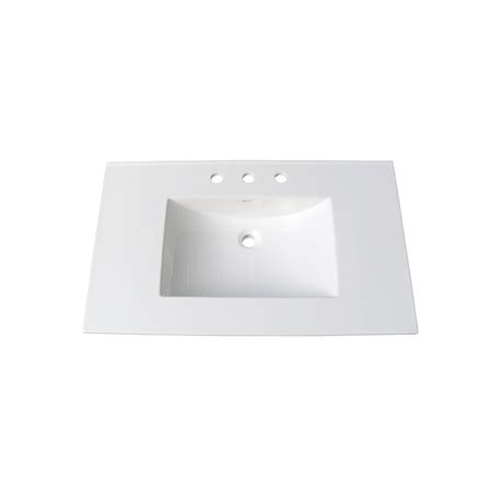 37 vanity top with integrated sink fairmont tc 3722w8 tops 37 white ceramic vanity sink top