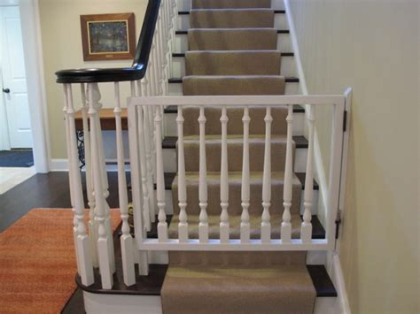 Baby Gate For Top Of Stairs With Banister by Baby Gate Banister Kit Founder Stair Design Ideas