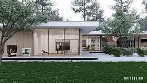 maison toit plat moderne qui defie la gravite par nott With photo maison toit plat 10 de maison de ville avec piscine toit plat construction
