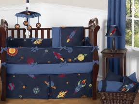 sweet jojo designs navy blue outer space planets baby boy bedding crib set ebay