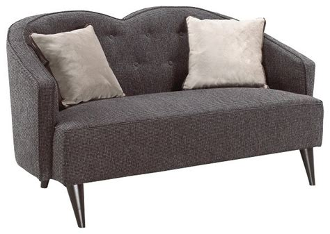 Settee Toronto by Charcoal Grey Fabric Settee Contemporary Sofas