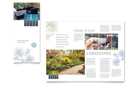 Tree Service Tri Fold Brochure Template Word Publisher Landscaping Tri Fold Brochure Template Word