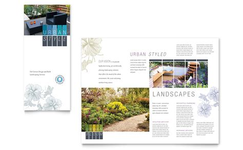 urban landscaping tri fold brochure template word