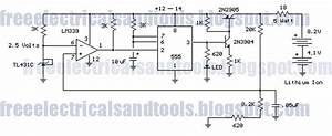 Free Schematic Diagram  Cell Lithium Ion Charger Circuit