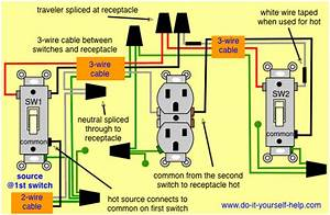 Image Result For How Do You Wire A 3 Way Switch On One Receptacle Of A Wall Outlet