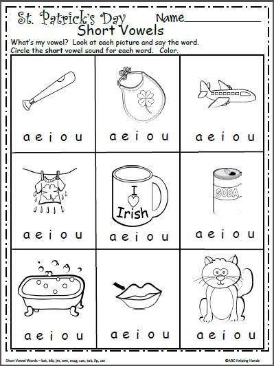 free vowels worksheet for kindergarten madebyteachers