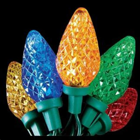home accents holiday 25 light led multi color c9 lights