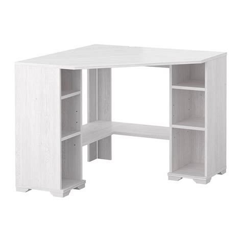 Ikea Desk Corner Top by Borgsj 214 Corner Desk White Ikea