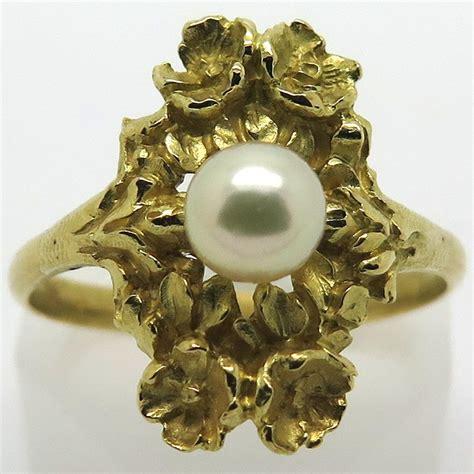 bague marquise or jaune bague marquise ancienne en or jaune et perle 1919