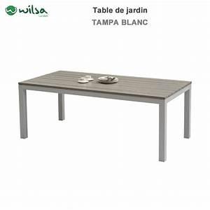 Table De Jardin 8 Places : table de jardin tampa fixe 8 places blanc600465 wilsa garden ~ Teatrodelosmanantiales.com Idées de Décoration