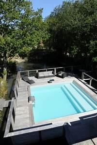 Piscines Semi Enterrées : piscines semi enterr es piscinelle ~ Dallasstarsshop.com Idées de Décoration