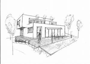 architecture moderne maison dessin maison moderne With dessin de maison moderne