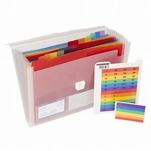exacompta expanding file 13 pocket staplesr With staples document folder
