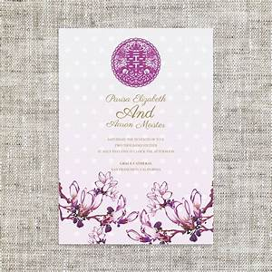 Diy printable chinese wedding invitation card template instant for Chinese wedding invitations etsy