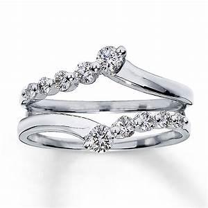 White Gold Diamond Ring Wrap Wedding Promise Diamond
