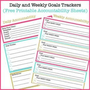 Weekly Goal Tracking Sheets Printable