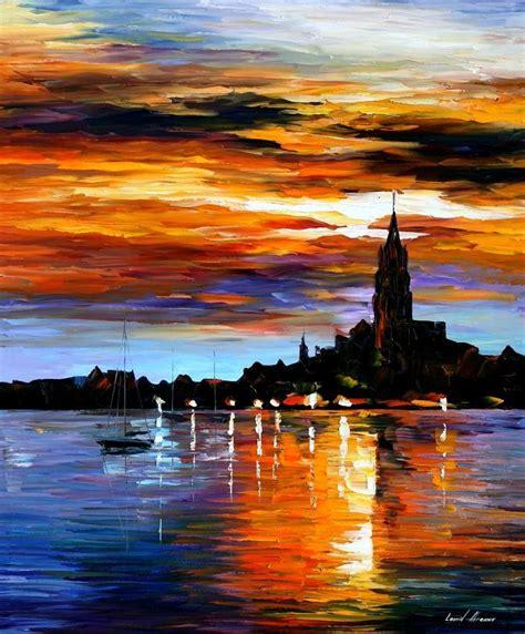 sky  spain palette knife oil painting  canvas