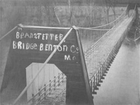 bridgehuntercom branstetter swinging bridge