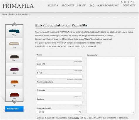 Primafila Divani Catalogo by 200 On Line Il Nuovo Sito Di Primafila Divani