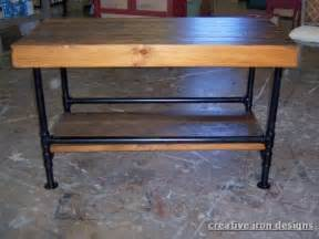 kitchen island legs metal antique industrial bench butcher block top with metal base and lower shelf butcher block