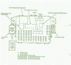 1990 Honda Civic Lx Auxiliary Fuse Box Diagram  U2013 Circuit