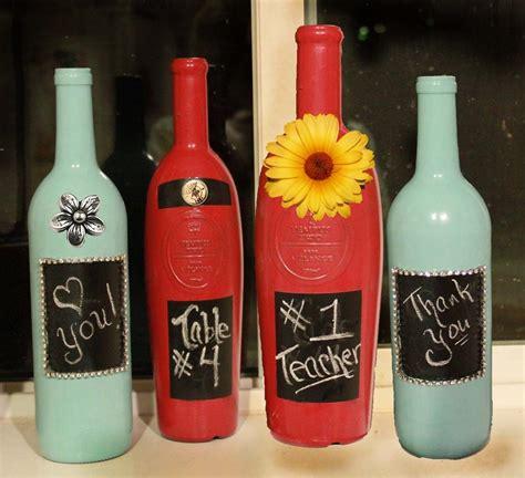 Decorative Painted Wine Bottle