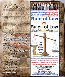 No Jury? No Justice!: Rule of Law vs. Rules of Law, What ...
