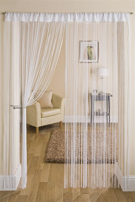 String Curtains by Neptune White String Curtain From Net Curtains Direct