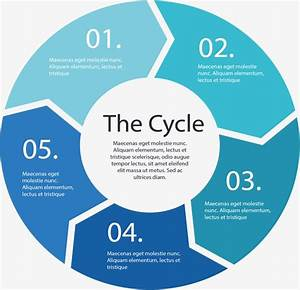 Cycle Flow Chart  Vector Material  Flattened  Circle Png