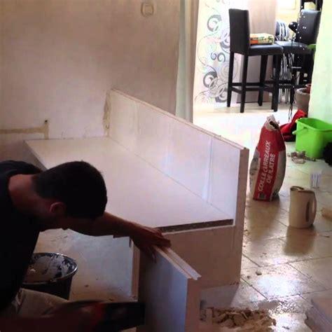 creation dun meuble de cuisine en carreau de platre youtube