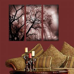 Piece wall art nature dark tree plexi glass