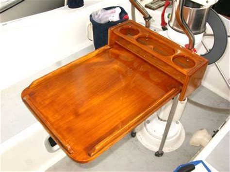 Boat Restoration Tips by Boat Projects Homemade Teak Cockpit Table Sailboat