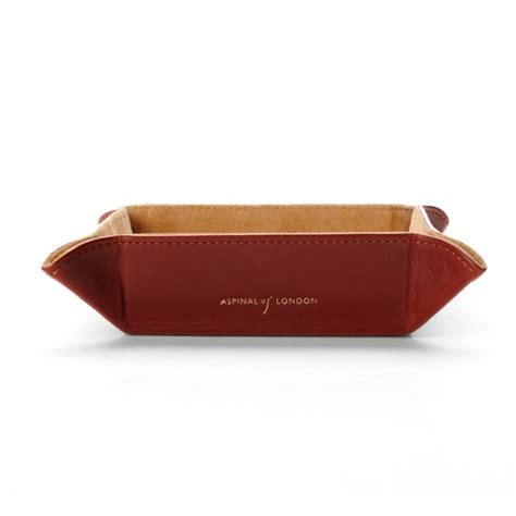 mens leather valet tray desk tidy mens leather valet tray aspinal of london