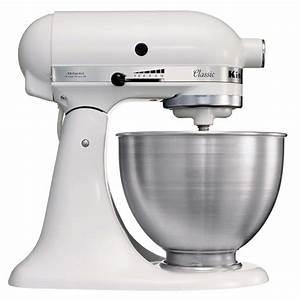 Robot Mixeur Multifonction : kitchenaid 5k45ssewh s rie classic robot mixeur ~ Mglfilm.com Idées de Décoration