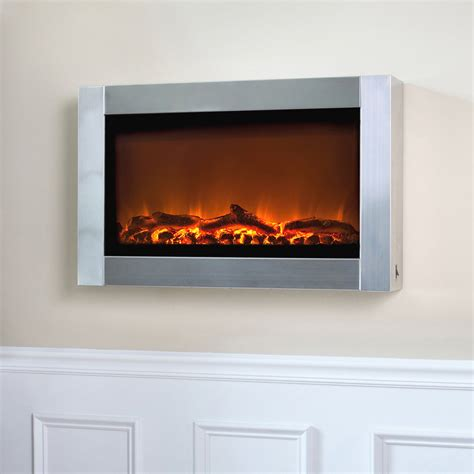 electric wall fireplace sense stainless steel wall mounted electric fireplace
