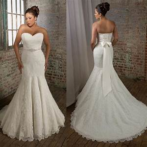 plus size sweetheart strapless mermaid wedding dresses With plus size mermaid wedding dresses