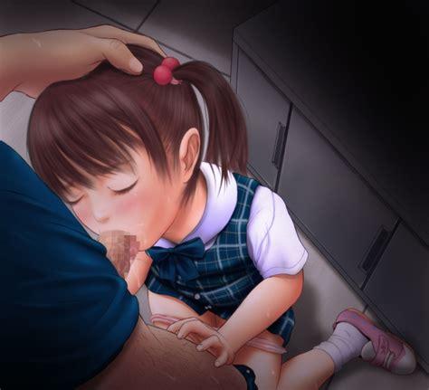 1boy 1girl Blush Censored Closed Eyes Fellatio Footwear Hand On Head Miyaba Tsubame Seki Oral